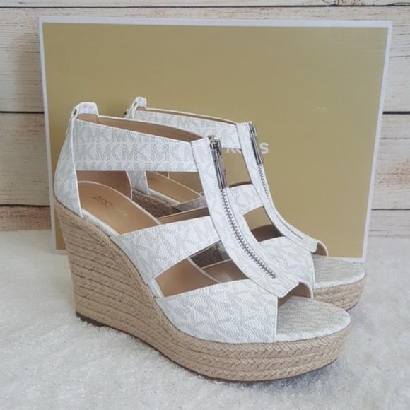07967f57e Michael Kors Shoes | New Damita Wedge Sandals | Poshmark
